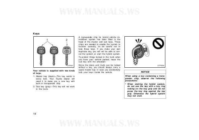 Toyota prius owners_manual_2001
