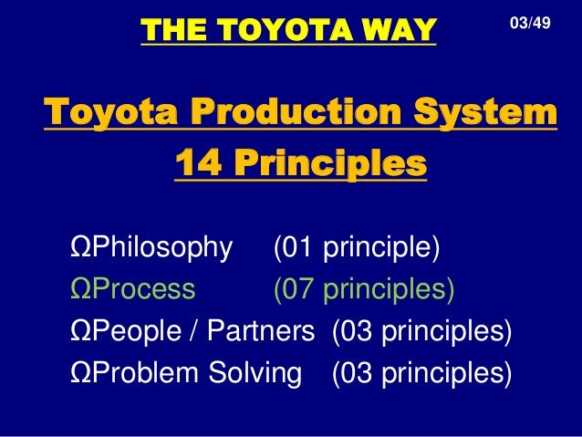 bookreview the toyota way 14 management The toyota way, by jeffrey k liker: bibliographic review liker, jeffrey k the toyota way: 14 management principles from the world's greatest manufacturer new york lean is an outgrowth of the toyota management philosophy.
