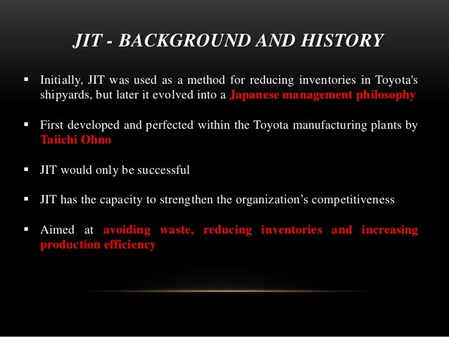 toyotas jit revolution a legendary production Today we all know who and what played the key roles in developing lean production system since the last industrial revolution i am unmistakably talking about the success stories of toyota (since 1990) and it's great makers, carrying the unique signature flares of lean thinking (ie philosophy, process, people and problem-solving.