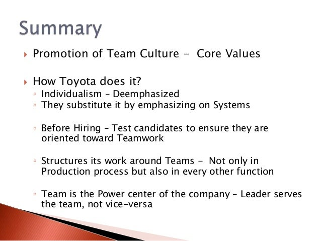 culture on toyota Toyota culture: the heart and soul of the toyota way [jeffrey liker, michael hoseus, center for quality people & organization] on amazoncom free shipping on qualifying offers winner of the shingo prize for research and professional publication, 2009 the international bestseller the toyota way explained the company's success by introducing a revolutionary 4p model for.
