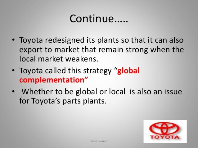 case study supply chain management toyota Toyota supply chain management: a strategic approach to  toyota supply chain management: a strategic approach to  toyota supply chain management will.