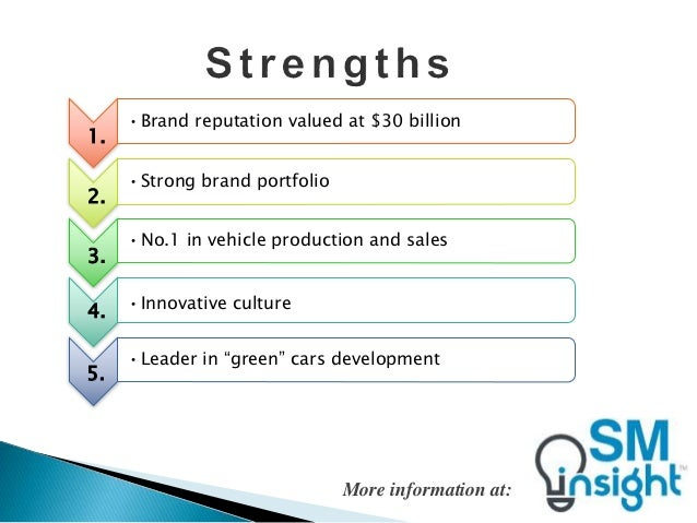 swot analysis of toyota company