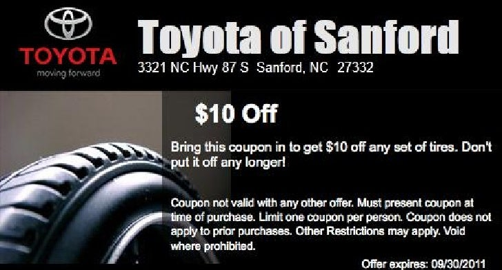 Toyota Tire Sale Special NC | Toyota Dealer near Raleigh
