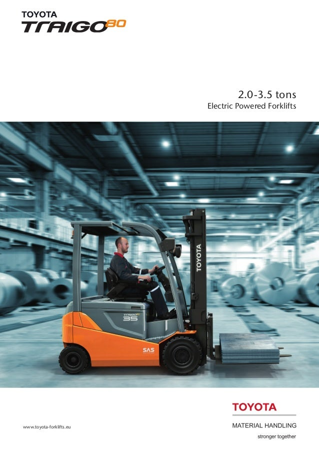 2.0-3.5 tons Electric Powered Forklifts  www.toyota-forklifts.eu