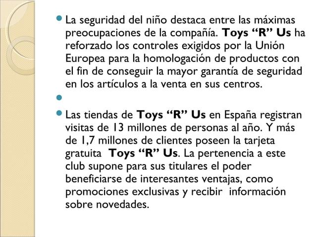"""La seguridad del niño destaca entre las máximas preocupaciones de la compañía. Toys """"R"""" Us ha reforzado los controles exi..."""