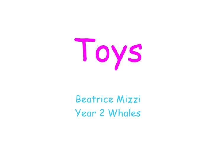 Toys Beatrice Mizzi Year 2 Whales