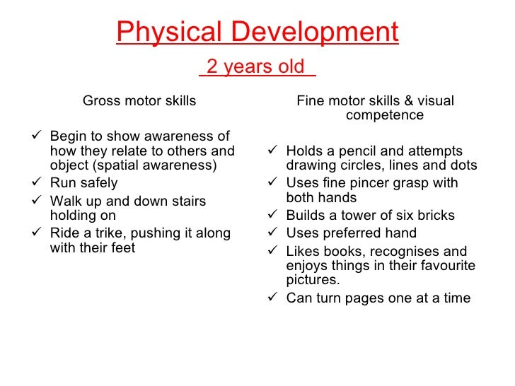 fine and gross motor skills for 2 year olds