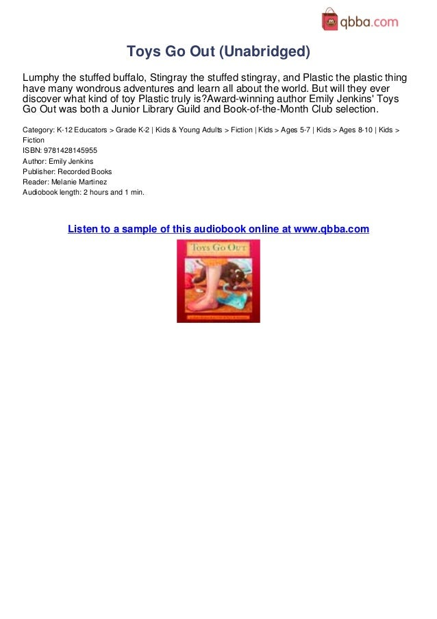 Toys Go Out Unabridged Book Review By Qbba