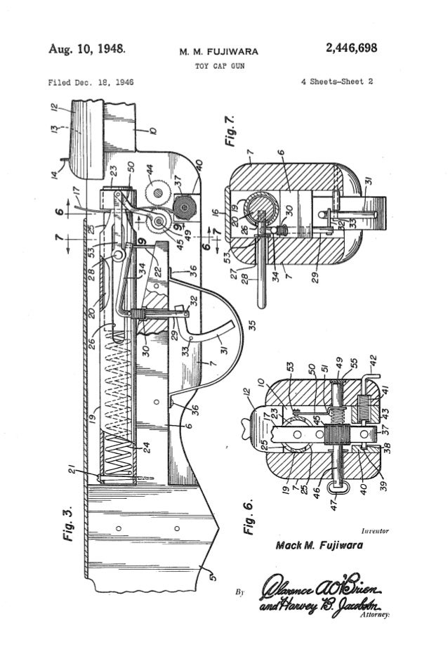 Book of shooting toys patent drawings Nerf Gun Schematics Diagram on