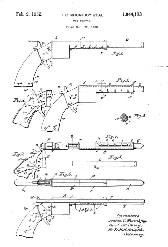 Book of shooting toys patent drawings 13 1953 51 malvernweather Image collections