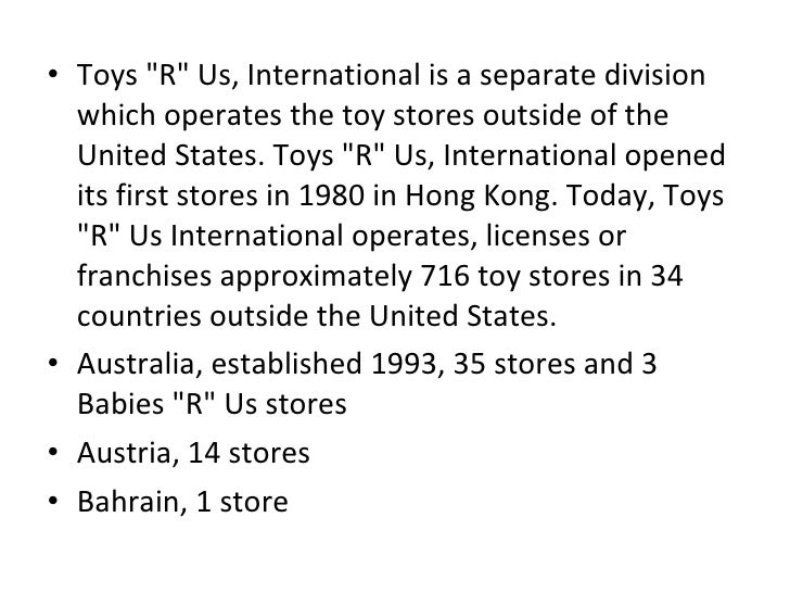toys r us strengths