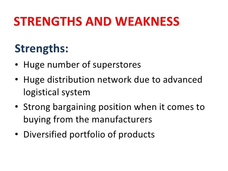 Why are weaknesses strengths and strengths weaknesses?