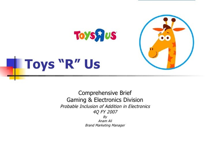 "toys r us japan case Toys ""r"" us japan case study toys ""r"" us purchase their products directly from toy manufacturers, cutting out the middle men wholesalers, in order to offer price discounts from 10-20% when compared to small toy retailers."