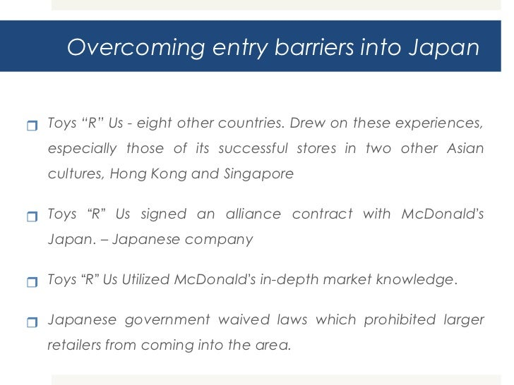 Toys r us goes to japan essay