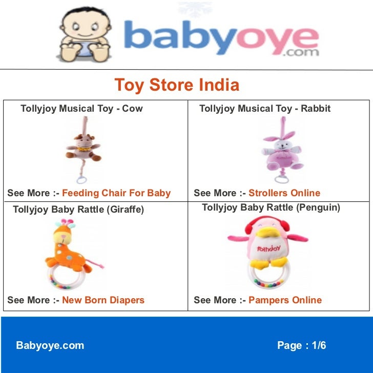 Toy Store India  Tollyjoy Musical Toy - Cow          Tollyjoy Musical Toy - RabbitSee More :- Feeding Chair For Baby   See...