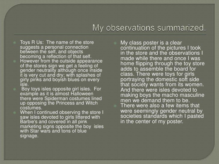gender observation The observation aimed at the revelation of gender relationship, including the relationship between men and women, men and men, and women and women the observation has revealed substantial difficulties in the behaviour and relations between representatives of different genders.