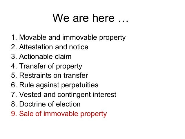 Doctrine Of Notice Property Law