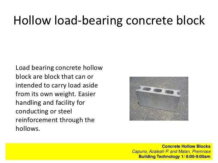 Bt 1 Concrete Hollow Blocks