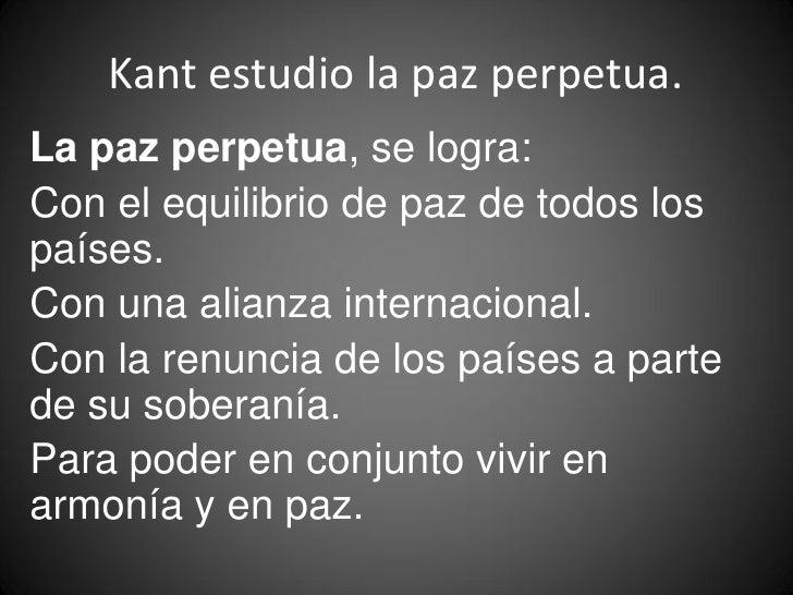 Ejemplo Verdad Mentira 17 Kant Estudio La Paz Perpetua