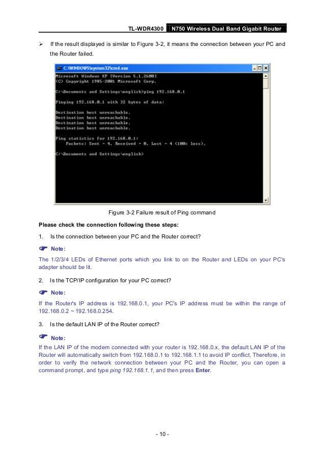 User Guide Tp Link Tp Link N750 Wdr 4300 Router User Guide
