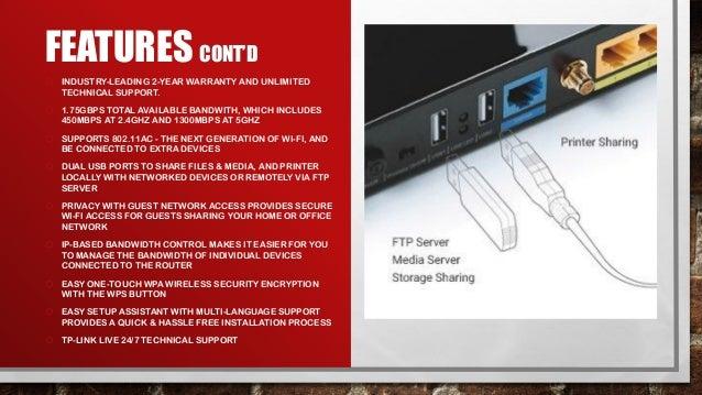 TP LINK Archer C7 AC1750 Dual Band Wireless AC Gigabit Router