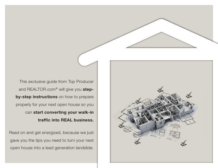 Having an open house? PLAN, PLAN, PLAN