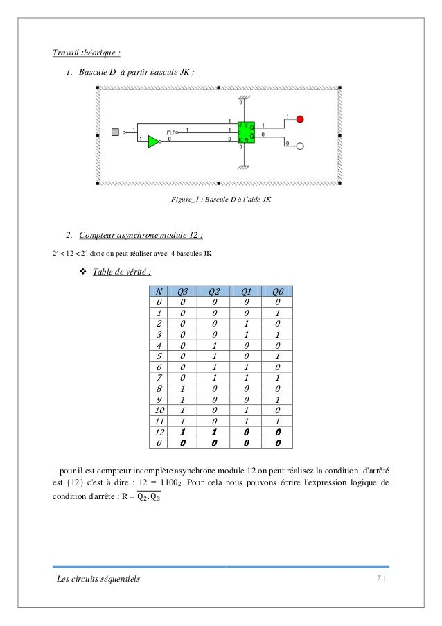Tp les bascules logique combinatoire for Bascule circuit logique