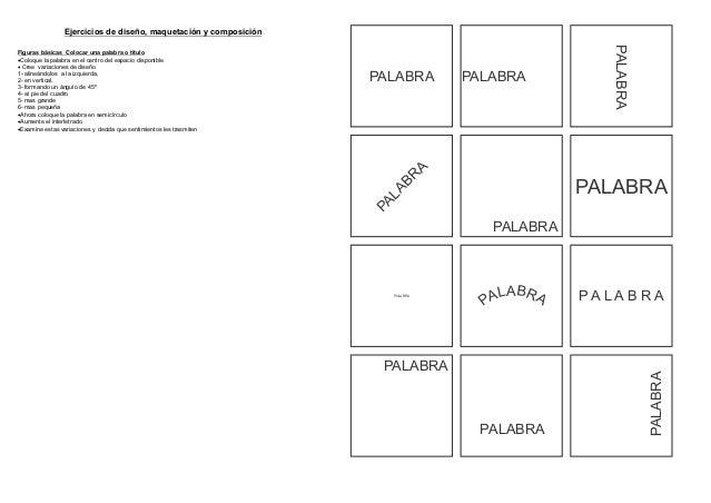 Ejercicios de diseño, maquetación y composición                                                                           ...