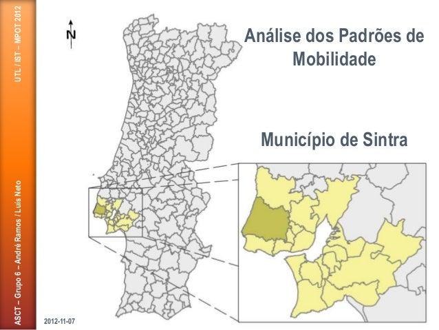 ASCT–Grupo6–AndréRamos/LuísNetoUTL/IST–MPOT2012 Município de Sintra Análise dos Padrões de Mobilidade 2012-11-07