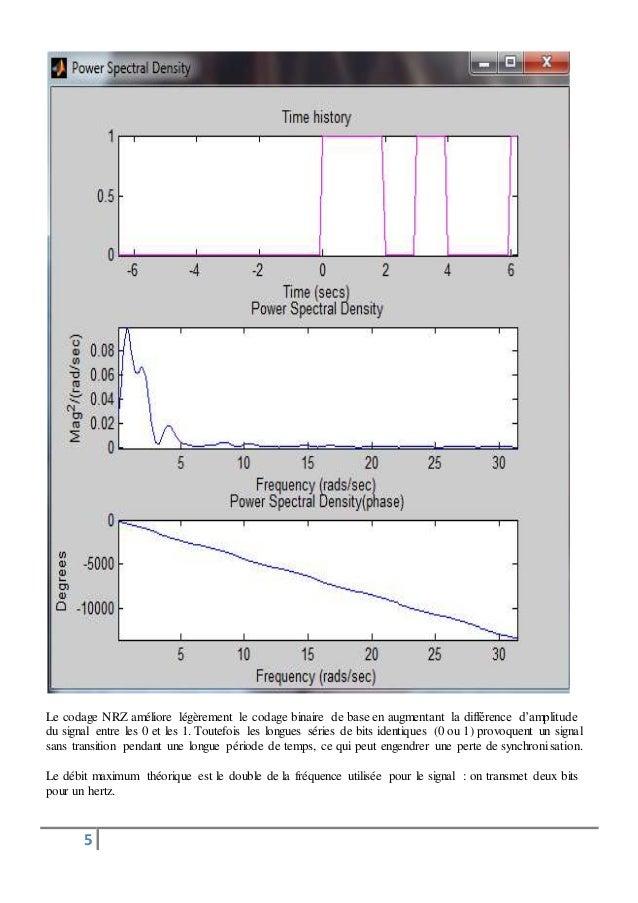 Le codage NRZ améliore légèrement le codage binaire de base en augmentant la différence d'amplitude  du signal entre les 0...