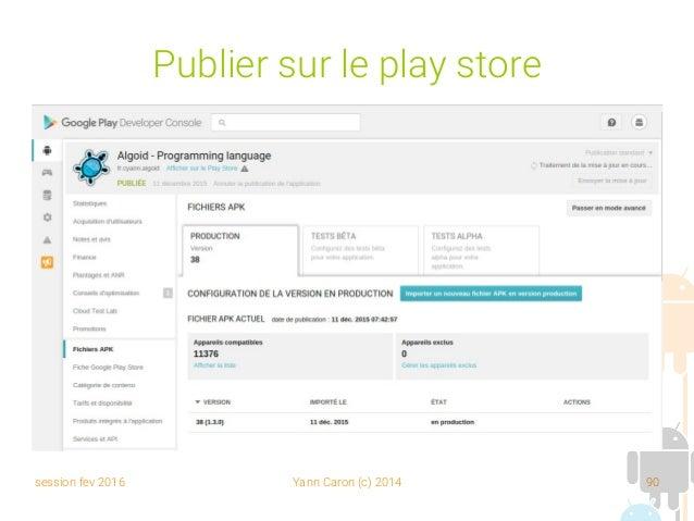 session fev 2016 Yann Caron (c) 2014 90 Publier sur le play store