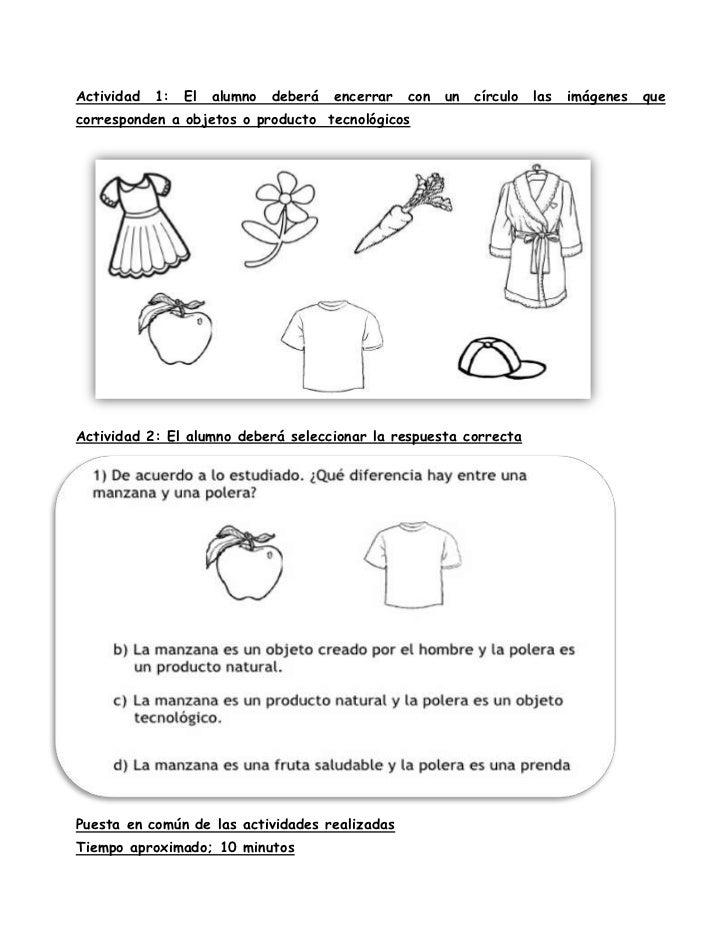 Actividad   1:   El   alumno   deberá   encerrar   con   un   círculo   las   imágenes   quecorresponden a objetos o produ...