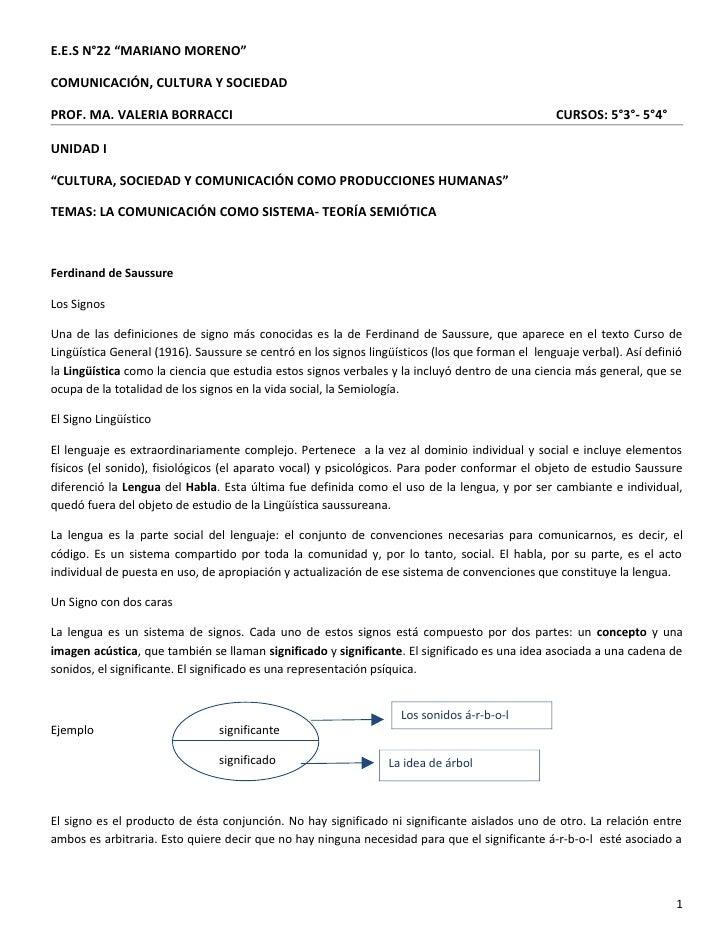 "E.E.S N°22 ""MARIANO MORENO""COMUNICACIÓN, CULTURA Y SOCIEDADPROF. MA. VALERIA BORRACCI                                     ..."