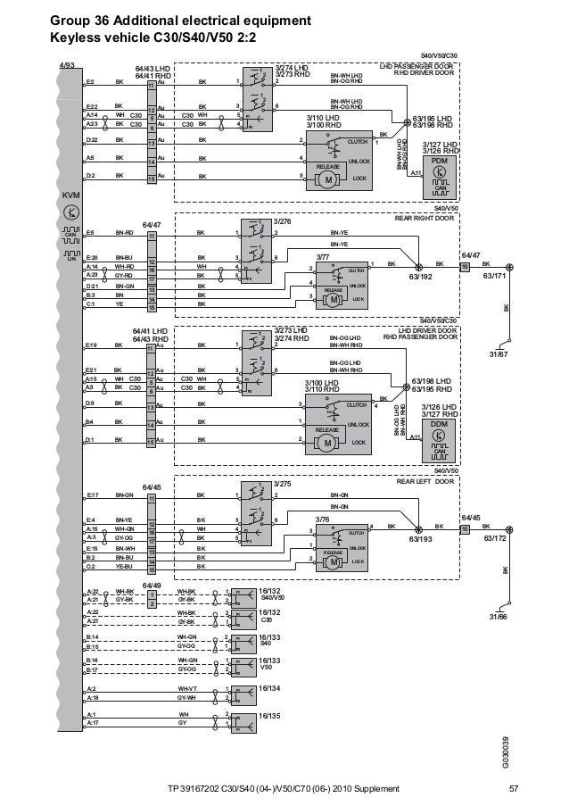 Volvo V40 Door Wiring Diagram  Volvo  Vehicle Wiring Diagrams