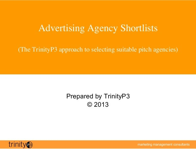 Selecting suitable pitch agencies for Advertising agency pitch