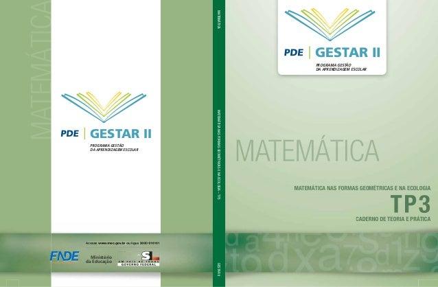 MATEMÁTICGESTAR IIPROGRAMA GESTÃODA APRENDIZAGEM ESCOLARMATEMÁTICAMATEMÁTICANASFORMASGEOMÉTRICASENAECOLOGIA–TP3GESTARIIMin...