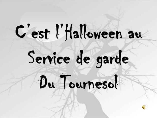 C'est l'Halloween au Service de garde Du Tournesol