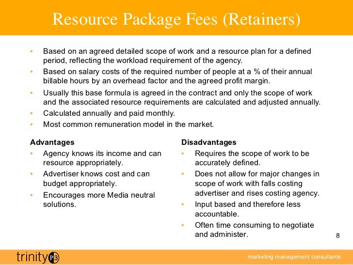trinityp3 advertising agency remuneration principles ForAdvertising Agency Fees