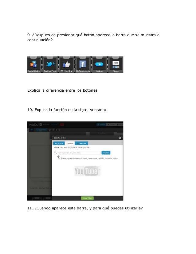 9. ¿Despúes de presionar qué botón aparece la barra que se muestra acontinuación?Explica la diferencia entre los botones10...
