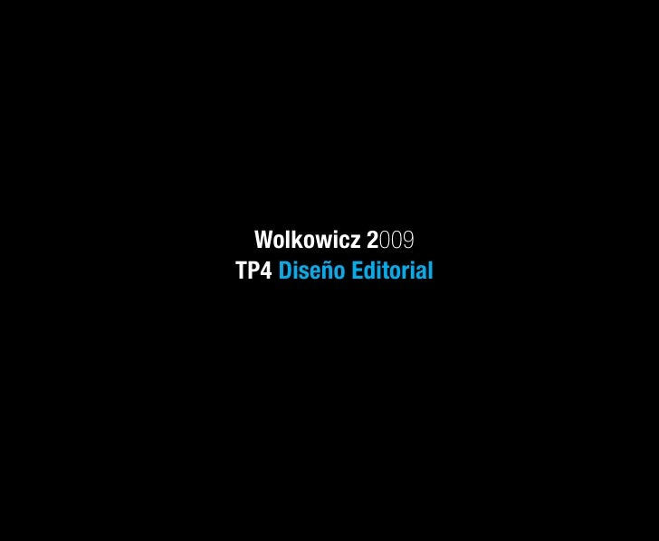 Wolkowicz 2009 TP4 Diseño Editorial