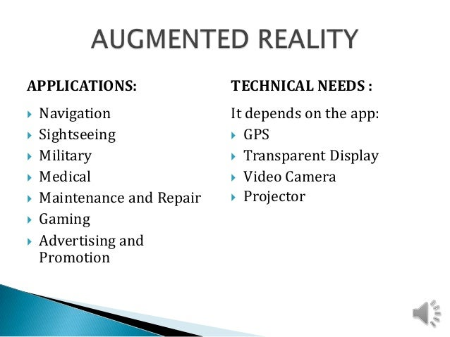advantages and disadvantages augmented reality You need a solid understanding of the differences between virtual, augmented and mixed reality to know which of these three you should go for  virtual reality has the most advantages for the .