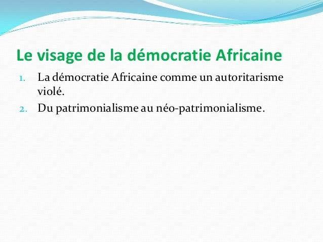 Le processus électoral comme épreuve du régime  Les élections et leurs conséquences en Afrique