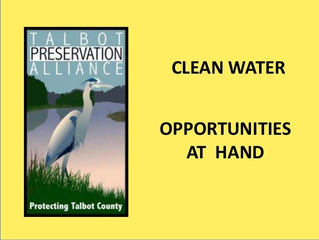 SST CLEAN WATER OPPORTUNITIES AT HAND