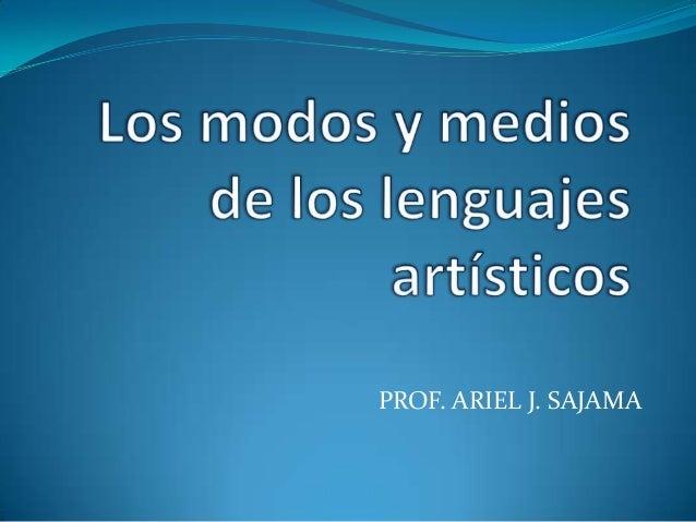 PROF. ARIEL J. SAJAMA