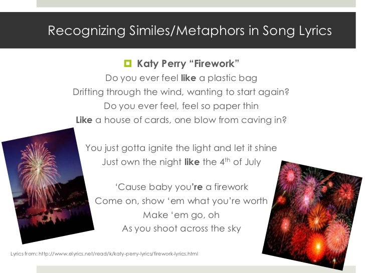 Similes and Metaphors in Songs - YouTube