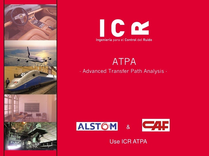 ATPA- Advanced Transfer Path Analysis -                  &            Use ICR ATPA
