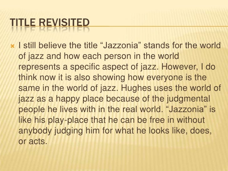 jazzonia langston hughes analysis