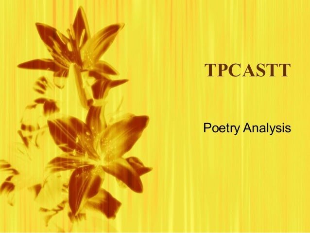 TPCASTTPoetry Analysis