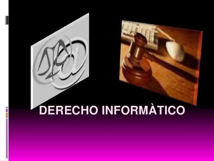 Derecho Informàtico<br />