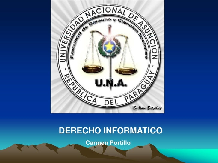 DERECHO INFORMATICO<br />Carmen Portillo<br />